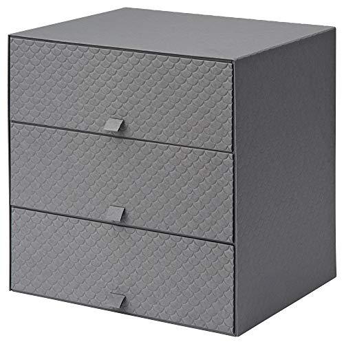 Ikea 502.724.80 Pallra - Mini cassettiera con 3 cassetti, colore: Grigio scuro