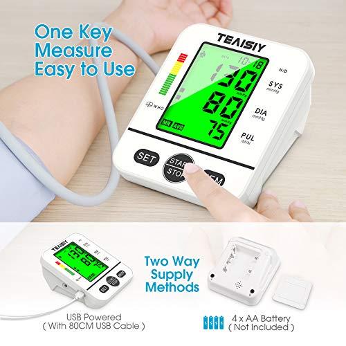 51elwkjE21L - Tensiómetro de Brazo Digital con Pantalla LCD, Automática de Presión Arterial y Pulso de Fuencia Cardíaca Detección, 22-40 cm Brazalete, Memorias de 2 Usuario (2 * 99)