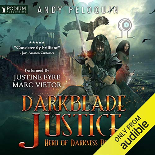 Darkblade Justice audiobook cover art