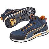 Puma 633140.46 Sicherheitsschuhe'Crossfit' Mid S3 HRO SRC, Größe 46, Blau/Orange/Schwarz