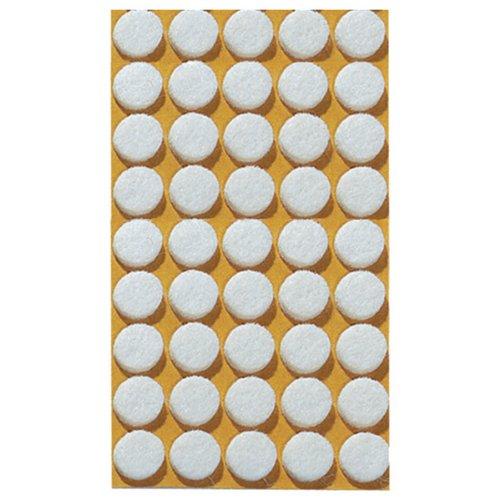 HERMA 2015 CD / DVD Fixierungspunkte aus Filz (Ø 15 mm) selbstklebend, permanent haftende Klebepunkte, 90 Haltepunkte, weiß