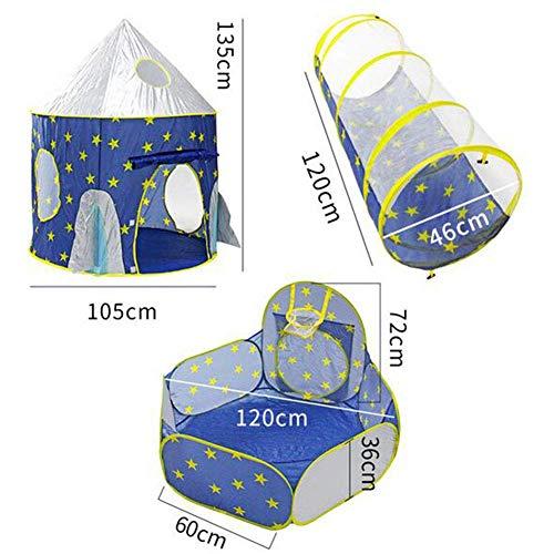Modedekoration Kinder Spielen Zelt und Tunnel 3 in 1, Pop-up-Zelt Kleinkinder kriechen Tunnel Playhouse Ball Pit Klappzelt, Baby Spielzeug Geschenke für Kinder Mädchen Jungen drinnen und dra