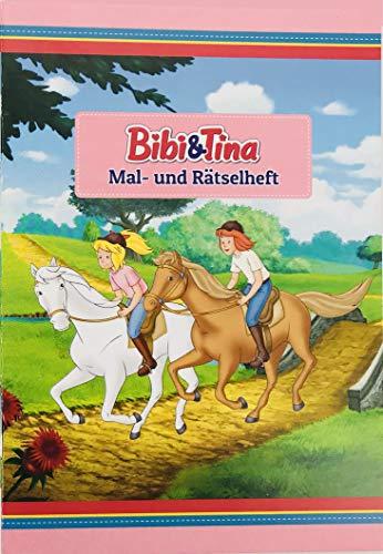 Mal- und Rätselheft * BIBI & TINA * mit 12 Seiten in DIN A6 | perfekt als Mitgebsel oder Geschenk | Malbuch Malen Malblock Kinder Pferde Pony Mädchen