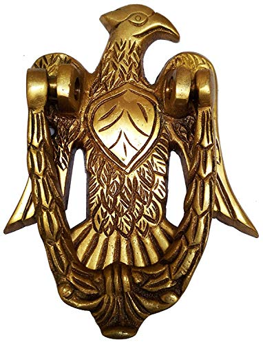 Wonderlist Handicrafts Türklopfer, Messing, Antik-Adler