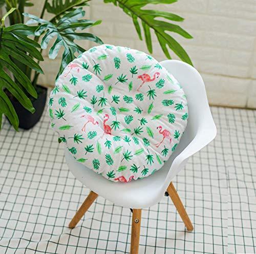 RAILONCH Juego de 2 cojines redondos para silla, para interior y exterior (estilo 2,45 x 45 cm)