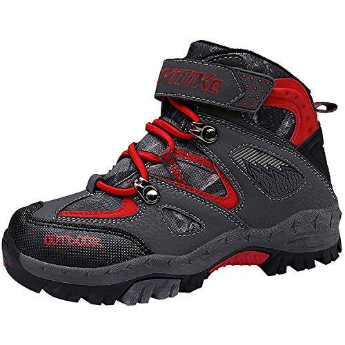 Scarpe da Escursionismo Unisex-Bambini Trekking Stivali da Neve Scarpe da Cotone, 30 EU, 1 Rosso