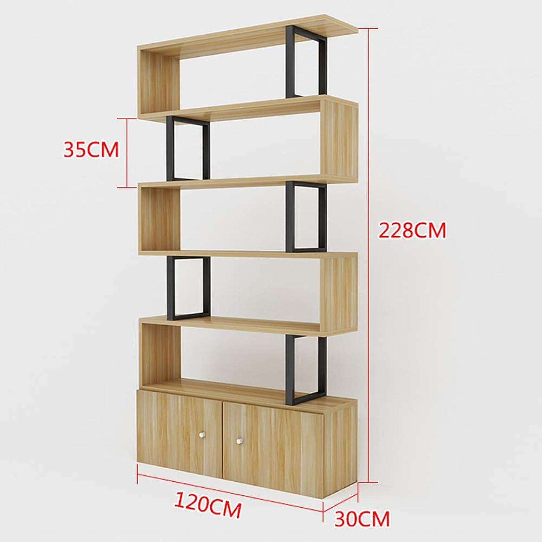 Regalbretter ZR – Holz S-Form Würfel Kaffeekonsolentisch Aufbewahrung Büro Bücherregal Wohnzimmer Schreibtisch Stnder Display, Holz, 6 layers-120cm