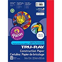 [トルゥーレイ]Tru-Ray Construction Paper, 9X12, Festive Red, 50 Sheets 103431 [並行輸入品]