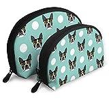 NR Boston Terrier Muster Frauen Reise Kosmetiktaschen Wasserdicht FabricSmall Makeup Clutch Pouch...