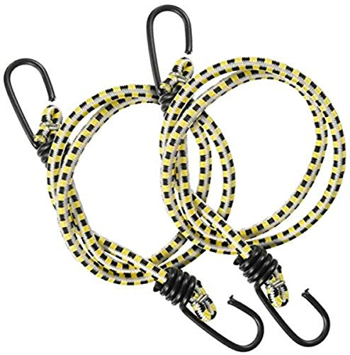 """Keeper 06036 36"""" Bungee Cord with Coated Hooks, 2 Pack"""
