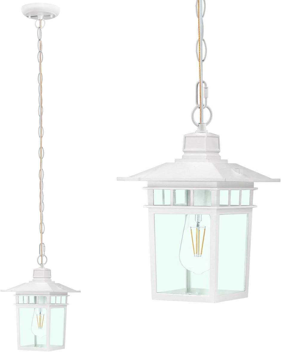 Gorgeous Pendant Light Fixture with Clear Shade wi Lighting Glass unisex Hanging