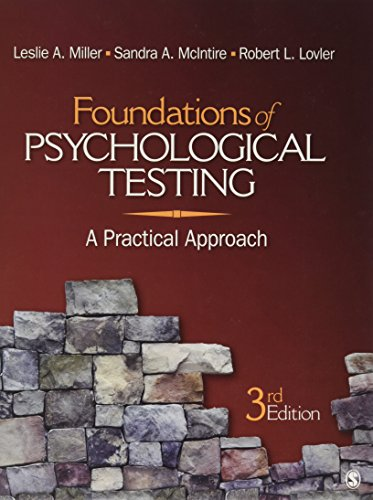 Foundations of Psychological Testing: A Practical Approach