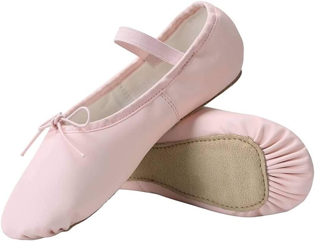 Linodes PU Leather Ballet Shoes/Ballet Slippers/Dance Shoes for