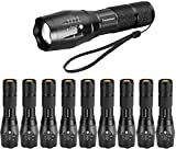 LED Tactical Flashlight, Super Bright 2000 Lumen LED Flashlights Portable Outdoor Water Resistant Torch Light Zoomable Flashlight with 5 Light Modes(10Pack