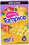 Tampico Singles To Go Drink Mix Packets, Mango Punch, 6-Count Box  Zero Sugar, Low Calorie Powdered Drink Packets, 100% DV of Vitamin C per Serving, Convenient, On-The-Go Water Enhancers