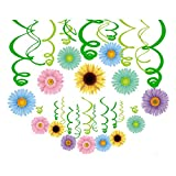 30Ct Autume Summer Spring Sun Flowers Hanging Swirl Decorations,Themed Birthday Party,Party Supplies,Ceiling Decorations for Girls,Boys,Kids, Bedroom,Classroom,Baby Shower