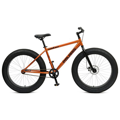 Polaris Wooly Bully Fat Tire Bike, 26X4 inch Wheels, 18.5 inch Frame, Unisex, Orange