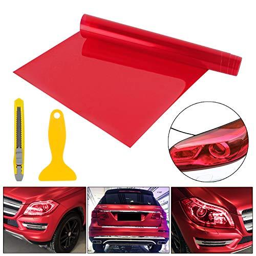 YAOBLUESEA 200x30cm Scheinwerfer Tönungsfolie Auto Folie Rückleuchten Nebelscheinwerfer Aufkleber Rot