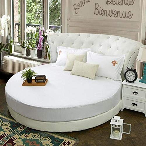 HPPSLT Protector de colchón, con Aloe Vera, (Todas Las Medidas) Faldón de Cama Redondo de algodón Redondo -23_1,8m