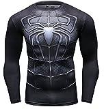 Cody Lundin Mode Sport à Manches Longues de Superhero Movie caractères Parti Chemise extérieure mâle Masculine (Araignée D,...