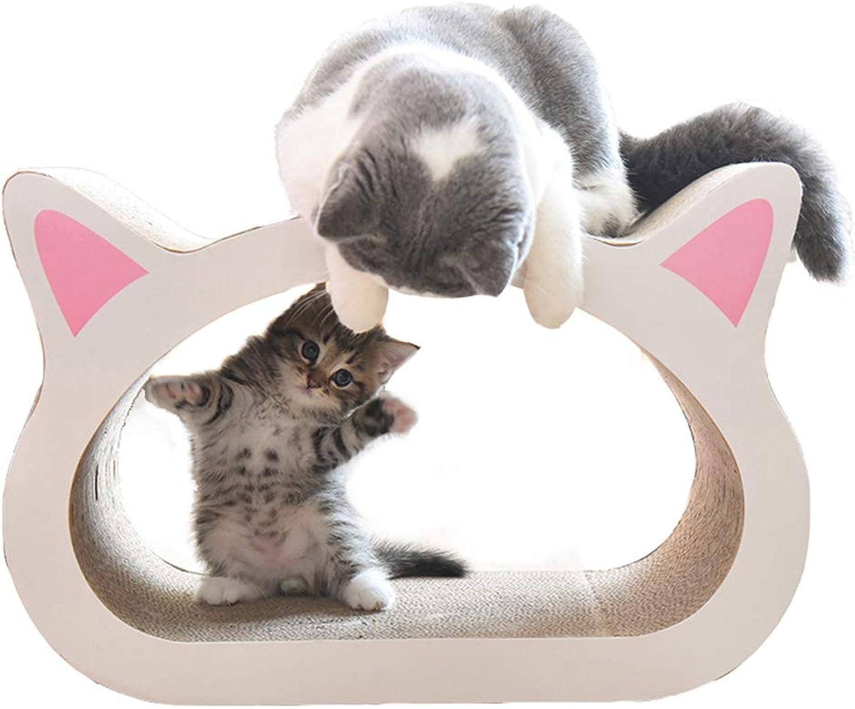 Cat Scratcher Lounge, Corrugated Cat Scratch Board Pet Toyswith Catnip (48X32X23cm,A)