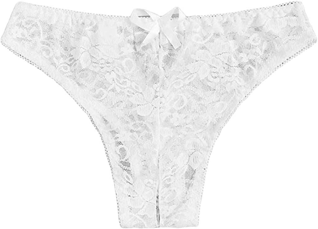 Lace Bikinis Panties for Womens Sexy Opening Crotch G-String Thong Low Rise Strech Hipsters Briefs Underwear