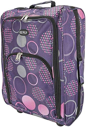 ALBERT AUSTIN Trolley On Wheels - Travel Gifts, Cabin Bag Luggage Travel Bag, Lightweight Suitcases 2 Wheels Waterproof Bag and Hand Bags (Circles)