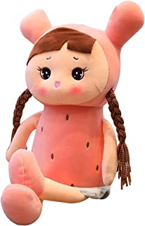 Gianthairball Fruit Girl Doll Plush,Fruit Girl Toy Cute Strawberry Pineapple Pillow Plush Christmas Birthday Girlfriend Gift (29.5'', Strawberry)