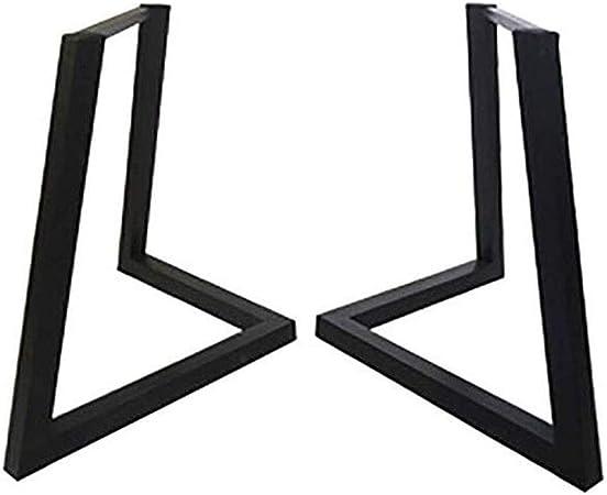 Patas de la Mesa de la Barra de Hierro, Soporte de Mesa de Comedor de Metal, Accesorios para Muebles DIY - Negro: Amazon.es: Hogar