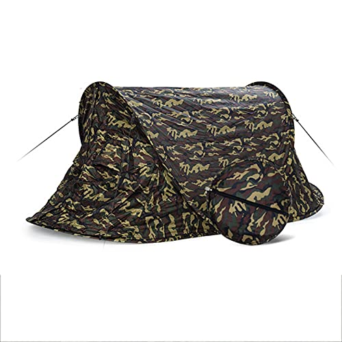 DFLKP Carpa Patrones de Camuflaje Carpa para Acampar Carpa para mochileros Carpa para Acampar Senderismo Carpa automática Impermeable,Army Green,79'×36'×34'