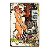 Tamaño Pin Up Girl Placa de cartel de metal de hojalata Metal Vintage Wall Pub Cafe Shop Decoración ...