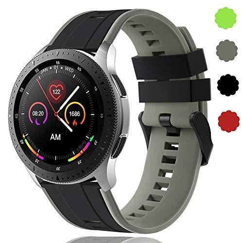 22 mm Schnellwechsel-Armbänder Kompatibel mit Samsung Galaxy Watch 46 mm/Huawei Watch GT 2 / Samsung Gear S3 Classic/Samsung S3 Frontier Silikon Sportuhrarmband für Herren Wowen DE91004 (#4)