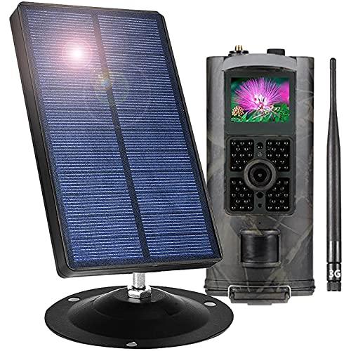 Panel Solar Cámara De Caza 16MP CMOS Sensor De Movimiento 1080P 3G Visión Nocturna Cámara De Fototrampeo para Vigilancia De Seguridad Al Aire Libre Y del Hogar