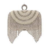 Mujer Bolsos Legierung Bolso de Noche Cristales Borlas Patrón geométrico Bolsos de Boda Fiesta Evento/Fiesta Cita Dorado Plata