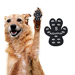 Aqumax Dog Anti Slip Paw Grips Traction Pads,Paw Protection with Stronger Adhesive, Non-Toxic,Multi-Use on Hardwood Floor or Injuries,12 sets-48 Pads