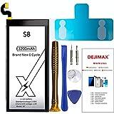 DEJIMAX S8 Batería, Batería de Alta Capacidad de 3200 mah para Samsung Galaxy S8 / EB-BG950ABE, Batería de Repuesto con Kit de Reparación