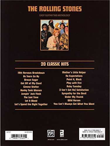The Rolling Stones: 20 Classic Hits For Easy Guitar TAB ...