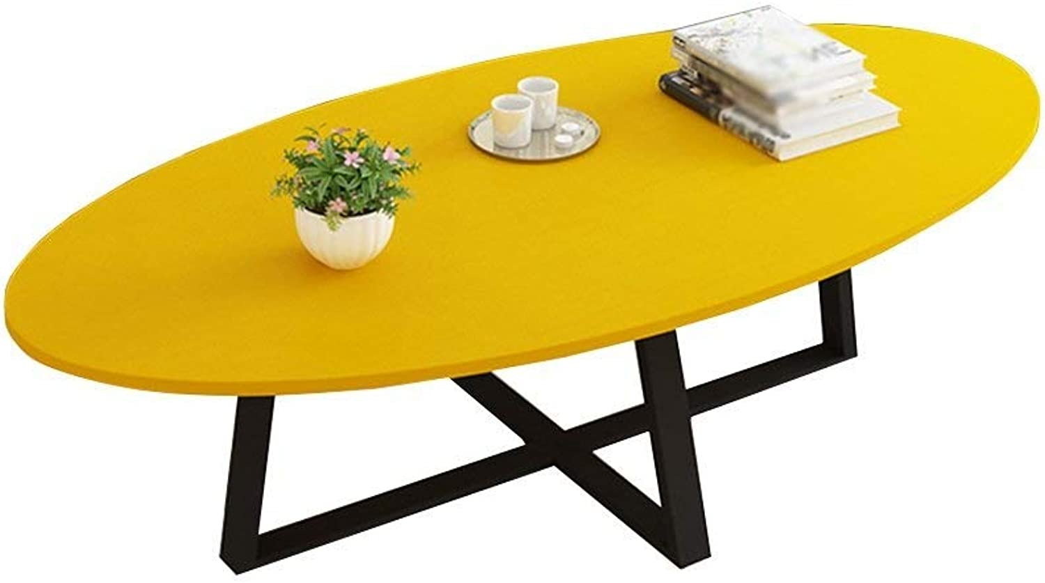 Creative Table Solid Wood Living Room Small Coffee Table Modern Minimalist Multi-Function Side Table Office Computer Desk, 6 colors Optional == (color   Yellow)