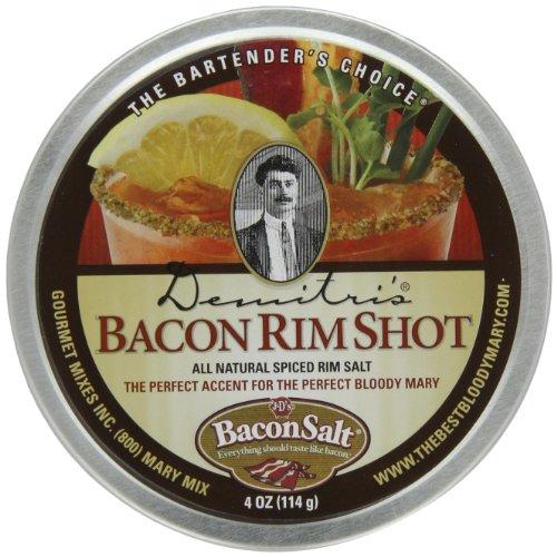 Demitri's Bacon RimShot, Spiced Rim Salt, , 4-Ounce Tins (Pack of 4)