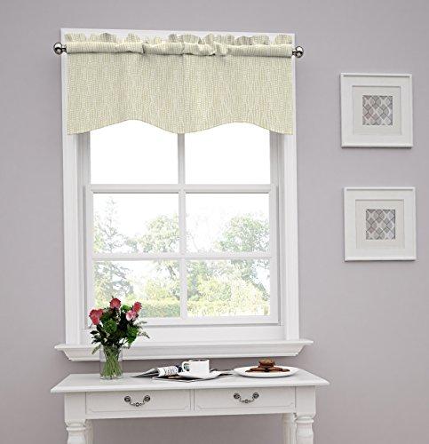 Traditions by Waverly 14977052016BIR Strands 52-Inch by 16-Inch Window Valance, Birch