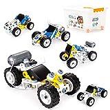 Kits de bloques eléctricos para niños 10 en 1 bloques de construcción de ingeniería de construcción STEM educativos tempranos Kit de exploración para niños a partir de 6 años y niñas (10 en 1)