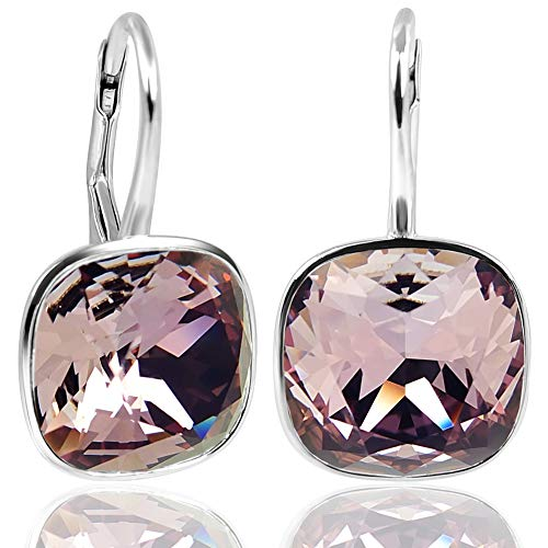 NOBEL SCHMUCK Ohrringe Silber Antique Pink mit Kristallen von Swarovski® 925 Sterling