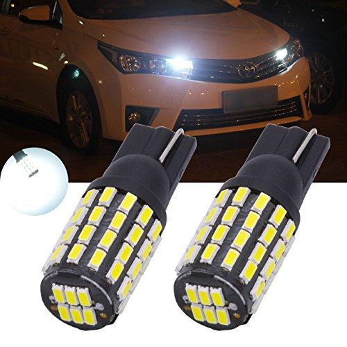 TUINCYN 2 Blanco T10 168 175 194 2825 W5 W 3014 54SMD LED bombillas de marcado lateral delanteras y traseras Luz Bombillas de matrícula Luz trasera de estacionamiento Luz trasera 3.1 W