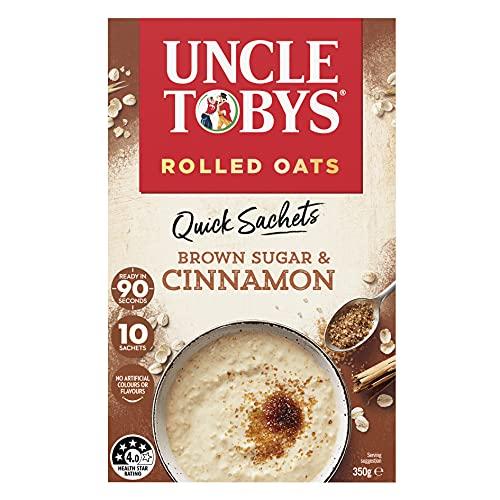 UNCLE TOBYS Oats Quick Sachets Brown Sugar & Cinnamon, 10 Sachets