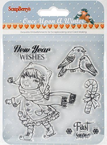 ScrapBerrys # 1: New Year Wishes, First Snow, Icons Upon A Winter, Transparente Stempel, 10,2 x 10,2 cm
