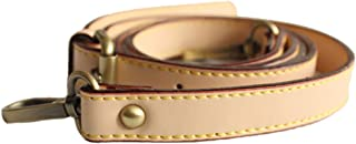 Neuleben Schulterriemen echtes Leder 120cm verstellbar Schultergurt Riemen Gurt Lederriemen für Schultertasche Umhängetasche Beige