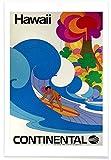 """JUNIQE® Reise Surfen Poster 40x60cm - Design """"hawaii4"""""""