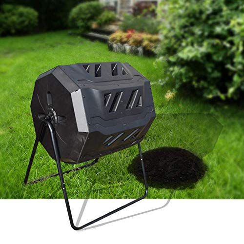 ZHANGYY Large Composting Tumbler 43 Gallon Capacity Composter, Dual Chamber...