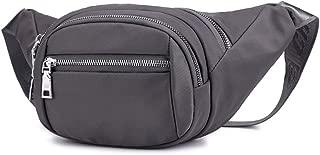 Chest Shoulder Bag for Running Travel Sports, Hip Bum Bag with Adjustable Strap, Waist Pack Bag Fanny Pack for Men and Women Gray