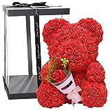 40cm künstliche PE Seifenschaum Bär Von Rosen Blumen-Bär Für Valentinstag Rosenbär Aus Blumen...